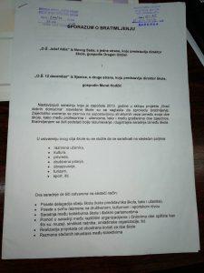"""Sporazum o saradnj sa OŠ,,12 decembar"""" iz Sjenice"""